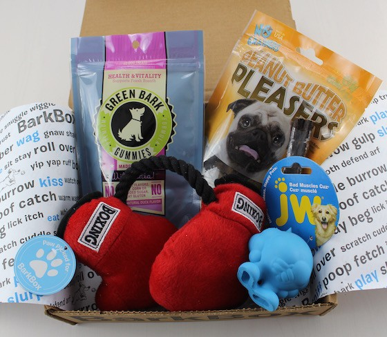 What comes in Barkbox?