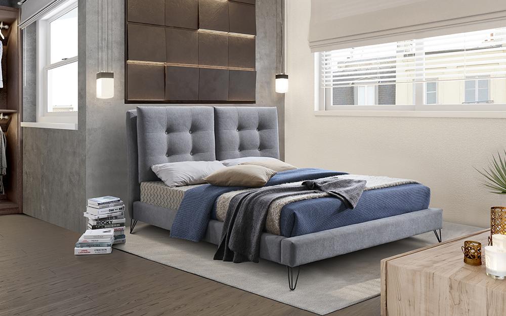 Tuscany Grey Fabric Frame - Mattress Online