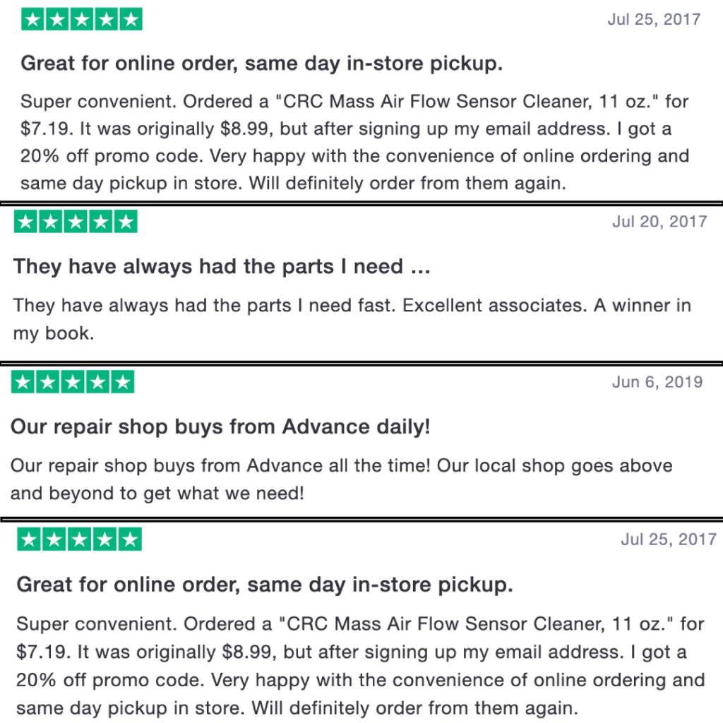 Advance Auto Parts - reviews