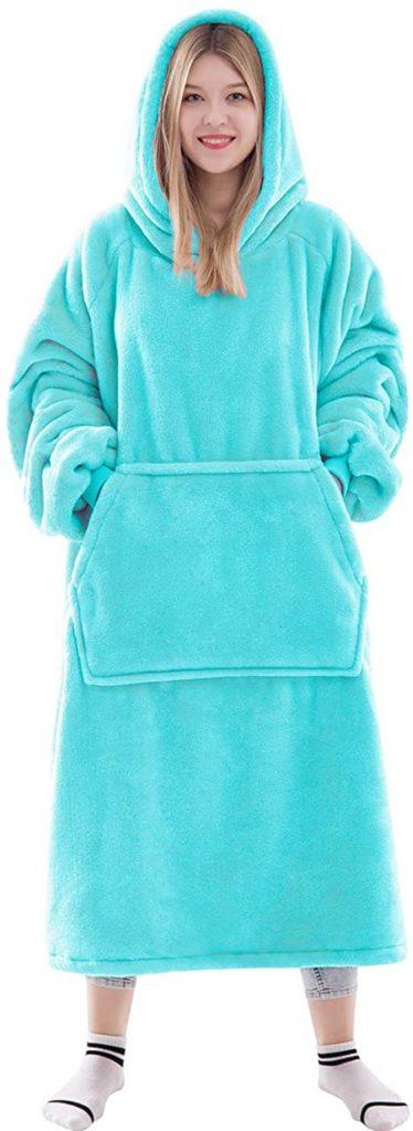 Waitu Thick Flannel Wearable Blanket