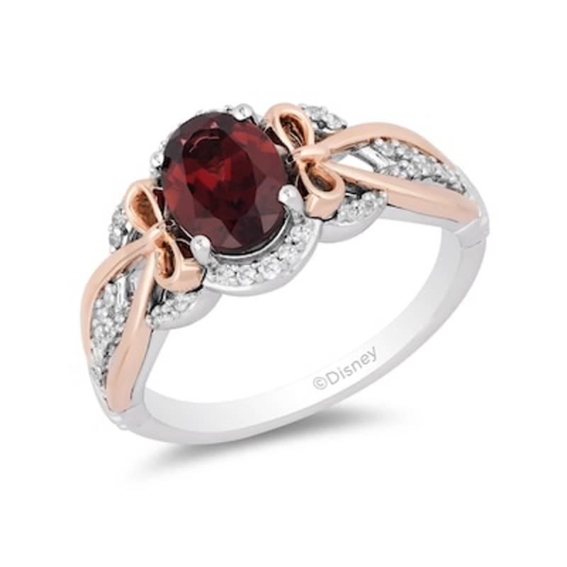 Red Garnet Snow White Ring